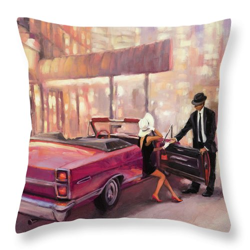Romance Throw Pillow featuring the painting Into You by Steve Henderson