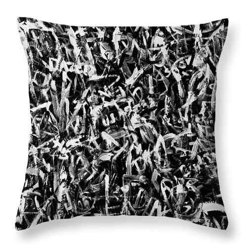 Text Expressionism Painting Throw Pillow featuring the painting Intoxicated by Roseanne Jones