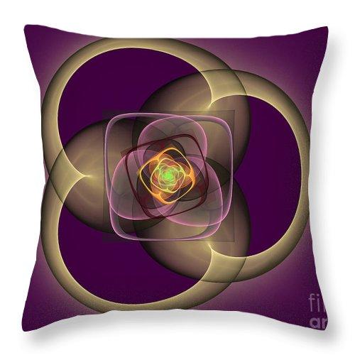 Digital Throw Pillow featuring the digital art Intrinsica Creation by Deborah Benoit