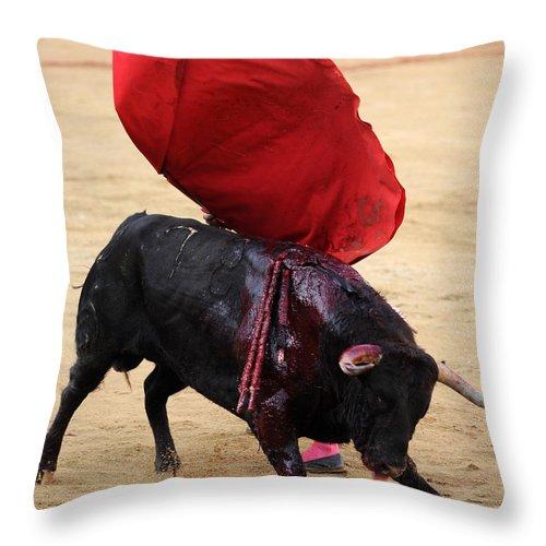Spain Throw Pillow featuring the photograph Invisible Matador by Rafa Rivas