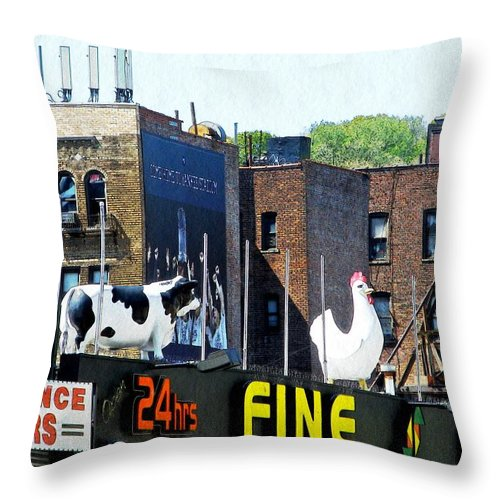 Statue Throw Pillow featuring the photograph Inwood Farm by Sarah Loft