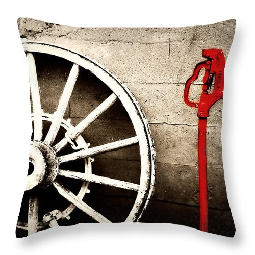 Barn Throw Pillow featuring the photograph Iowa Hydrant by Julie Hamilton