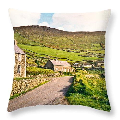 Ireland Throw Pillow featuring the photograph Ireland Farmland by Douglas Barnett