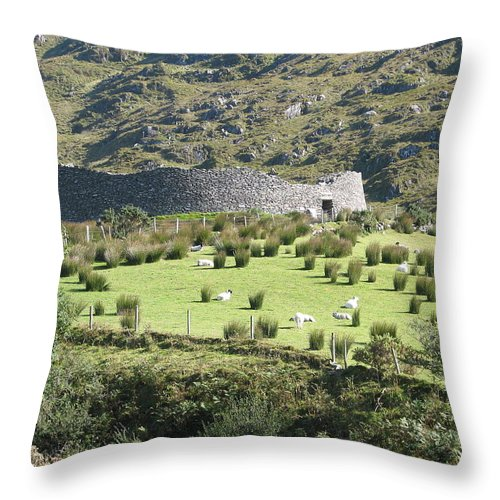 Ireland Throw Pillow featuring the photograph Ireland by Kelly Mezzapelle