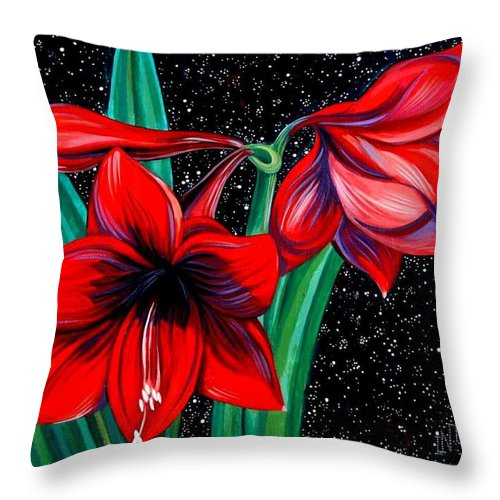 Expressionism Throw Pillow featuring the painting Iridescence by Inga Vereshchagina