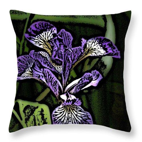 Digital Photograph Throw Pillow featuring the photograph Iris by David Lane