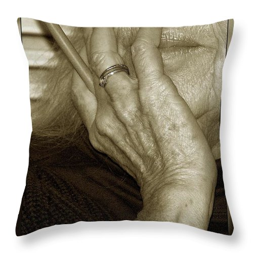 Throw Pillow featuring the photograph Iris For Pause by Joy Underhill