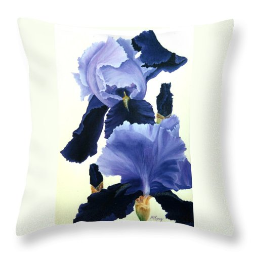 Flower Throw Pillow featuring the painting Iris by Melissa Joyfully