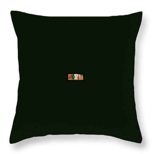 Abstract Throw Pillow featuring the photograph Iris by Steve Karol