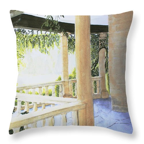 Garden Throw Pillow featuring the painting Irish Romance 2 by Frank Hamilton