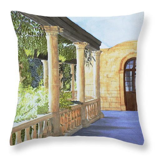 Garden Throw Pillow featuring the painting Irish Romance by Frank Hamilton