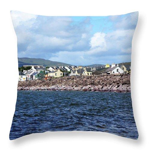 Ireland Throw Pillow featuring the photograph Irish Seaside Village, Co Kerry by Aidan Moran
