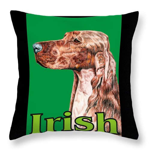 Irish Setter Throw Pillow featuring the digital art Irish Setter Pop Art by Kathleen Sepulveda