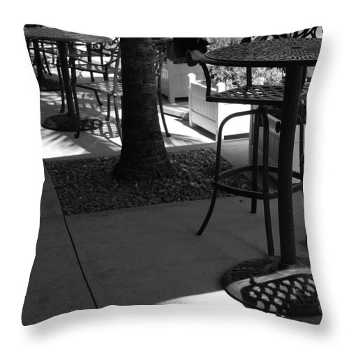 Black And White Throw Pillow featuring the photograph Irish Unbrella by Rob Hans
