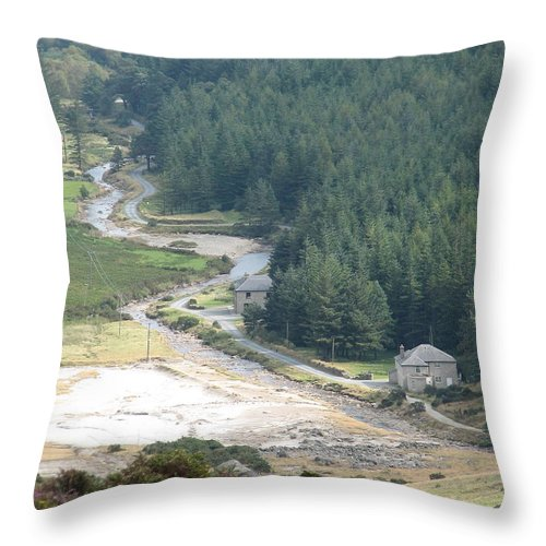 Ireland Throw Pillow featuring the photograph Irish Valley by Kelly Mezzapelle
