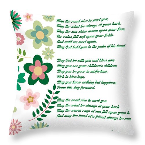 Irish Wedding Blessing Prayer Throw Pillow for Sale by Celestial Images