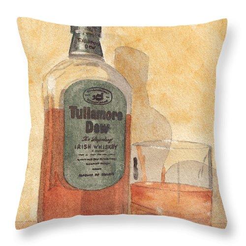 Irish Throw Pillow featuring the painting Irish Whiskey by Ken Powers