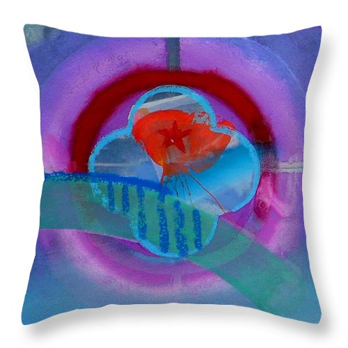 Logo Throw Pillow featuring the painting Iron Butterfly by Charles Stuart