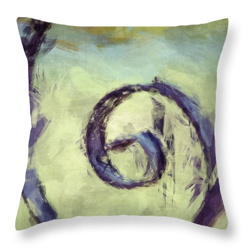 Iron Gate Throw Pillow featuring the photograph Iron Swirl by Donna Bentley