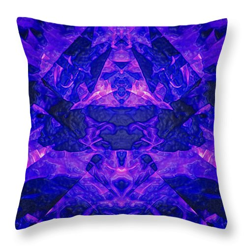 Night Throw Pillow featuring the photograph Irradescent Ice by Mark Sellers
