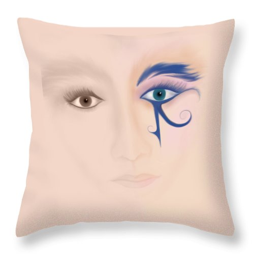 Isis Throw Pillow featuring the digital art Isis by BJ Crank