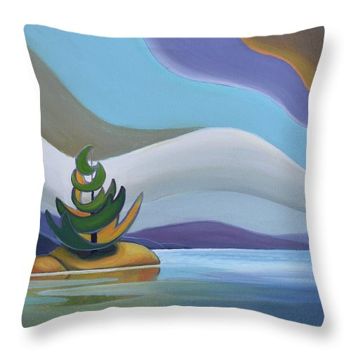 Group Of Seven Throw Pillow featuring the painting Island by Barbel Smith