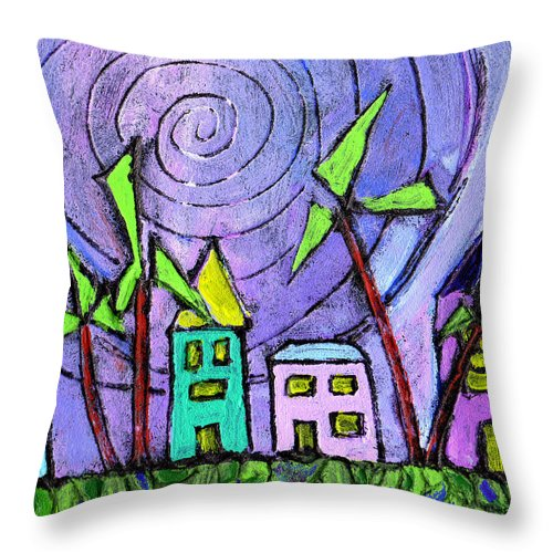 Island Throw Pillow featuring the painting Island Dreams by Wayne Potrafka