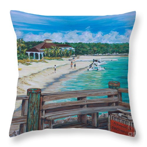 Canvas Throw Pillow featuring the painting Island Hopping by Danielle Perry
