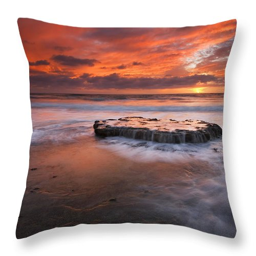 Island Throw Pillow featuring the photograph Island In The Storm by Mike Dawson