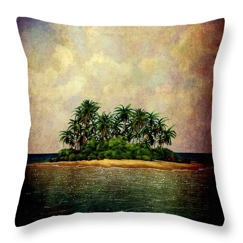 Island Throw Pillow featuring the photograph Island Of Dreams by Susanne Van Hulst