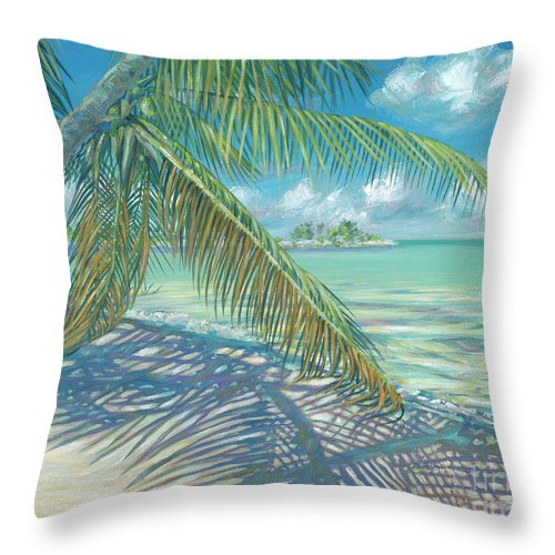 Cat Cay Throw Pillow featuring the painting Island Shade by Danielle Perry