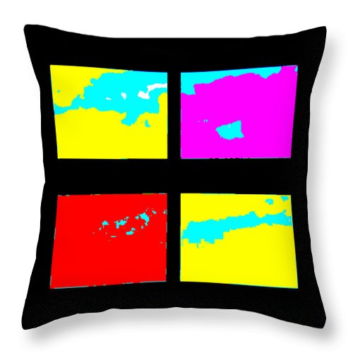 Square Throw Pillow featuring the digital art Islands by Eikoni Images