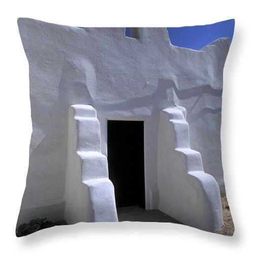 Adobe Throw Pillow featuring the photograph Isleta by Jerry McElroy