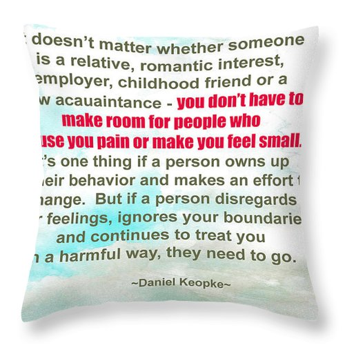 Relative Throw Pillow featuring the photograph It Doesn't Matter by Beauty For God