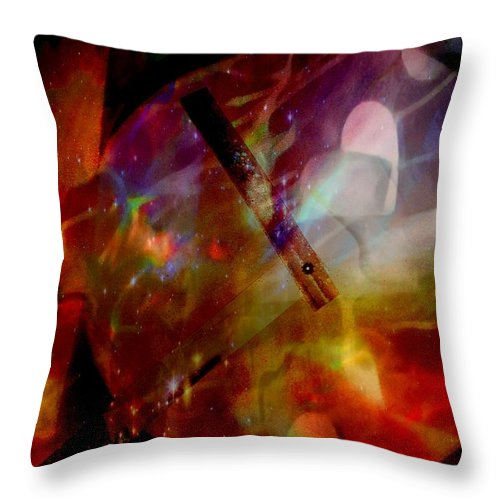 Hearts Throw Pillow featuring the painting It Is About Time Intersecting Depth Of Heart by Marshall Thomas