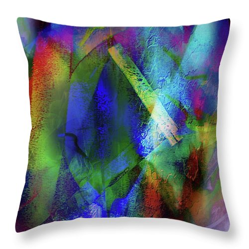 Cross Throw Pillow featuring the painting It Is About Time Intersecting Wondrous Cross by Marshall Thomas