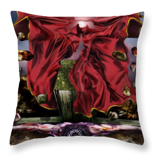 Jesus Rising On The Cross Throw Pillow featuring the painting It Is Finished by Reggie Duffie