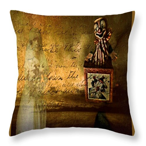 Clown Throw Pillow featuring the digital art It Is Not You by Delight Worthyn