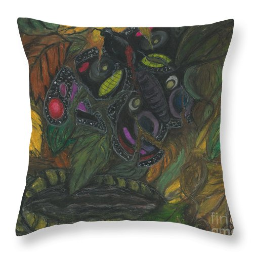 Abstract Art Throw Pillow featuring the painting It Never Had A Chance by Ania M Milo