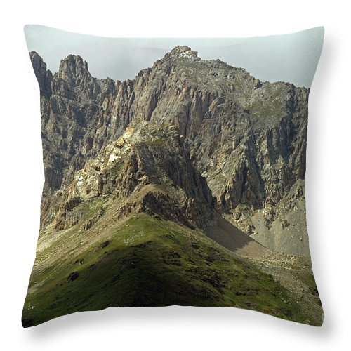 Italy Throw Pillow featuring the photograph Italian Alps by Amos Dor