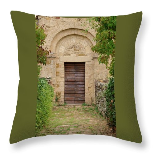 Italy Throw Pillow featuring the photograph Italy - Door Twenty Five by Jim Benest