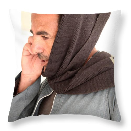 Al-ahyaa Throw Pillow featuring the photograph It's A Bit Muffled by Jez C Self