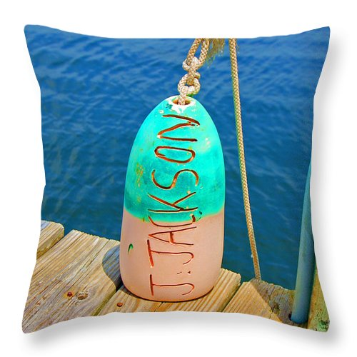 Water Throw Pillow featuring the photograph Its A Buoy by Debbi Granruth