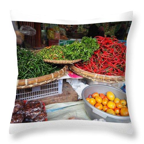 Hubhdp Throw Pillow featuring the photograph Spicy Chili by Kartika Kurniasari