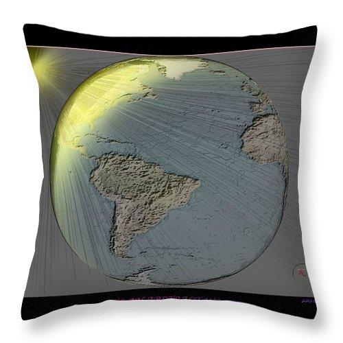 Digital Abstract Throw Pillow featuring the digital art It's An Abstract World by John Krakora