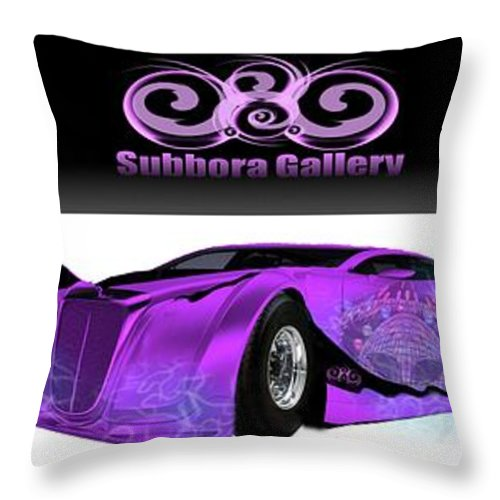 Throw Pillow featuring the digital art It's Mine by Subbora Jackson