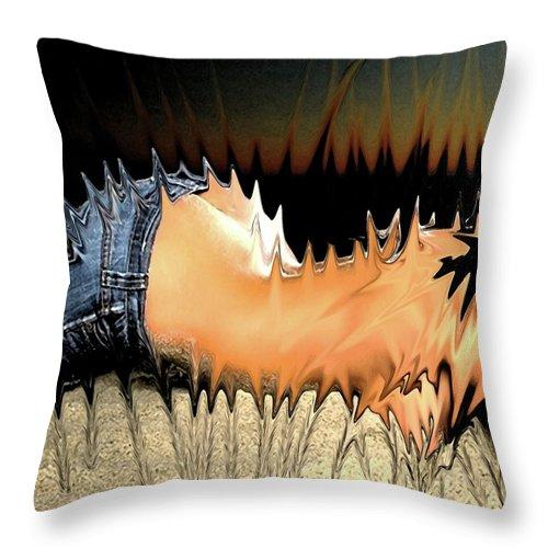 Pietyz Throw Pillow featuring the digital art Itz Horny... by Piety Dsilva