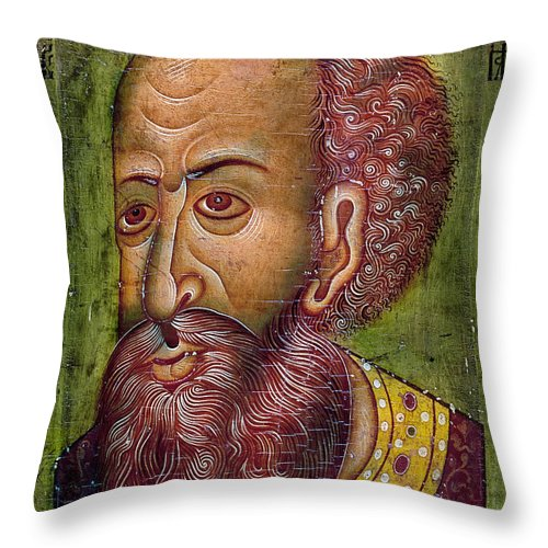16th Century Throw Pillow featuring the photograph Ivan Iv Vasilevich by Granger