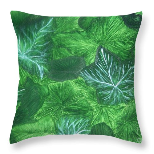 Ivy Throw Pillow featuring the painting Ivy by Emily Young