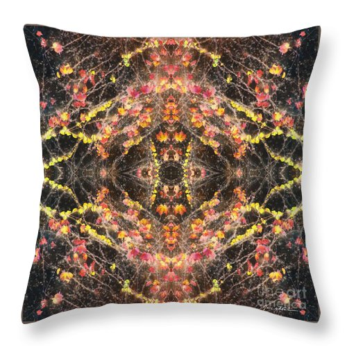 Marc Nader Photo Art; Marc Nader Fine Art Photography Throw Pillow featuring the photograph Ivy's In Black by Marc Nader